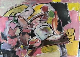 Bodegón, 2017. Acrílico sobre lienzo 65 x 46 cm