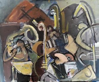Orquesta, 2017. Acrílico sobre lienzo 50 x 40 cm