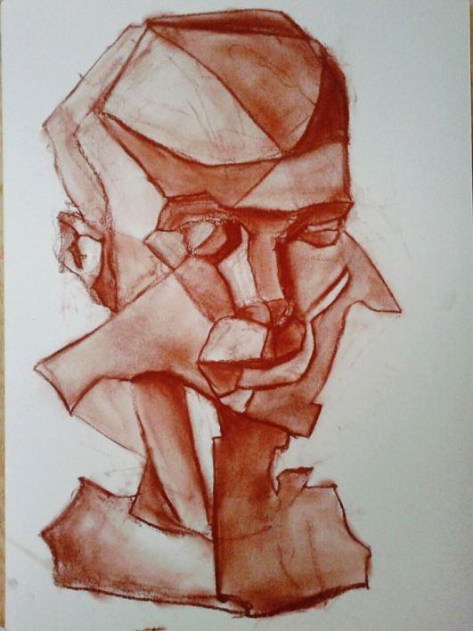 Estudio de Narciso, 2015. Sanguina 30 x 42 cm