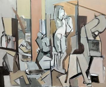 El Estudio, 2018. Acrílico sobre lienzo 100 x 81 cm