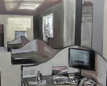 Oficina, 2018. Acrílico sobre lienzo 100 x 81 cm