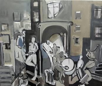 Charanga, 2018. Acrílico sobre lienzo 100 x 81 cm
