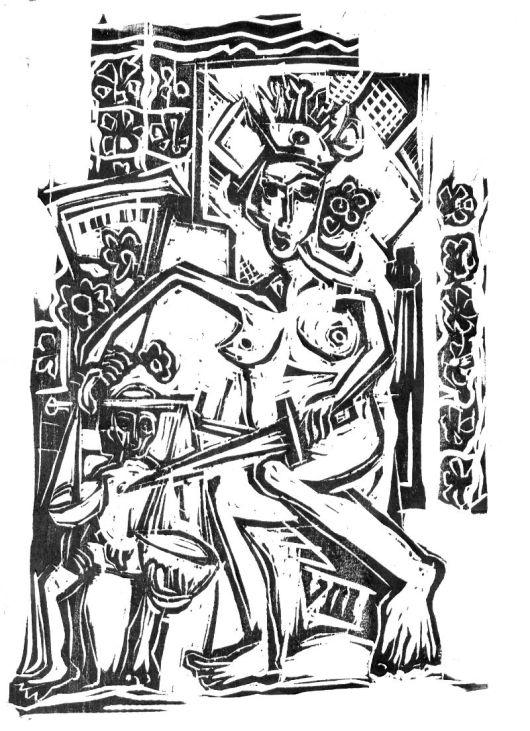 La Justicia (VIII). Xilografía