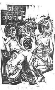 El Enamorado (VI). Xilografía